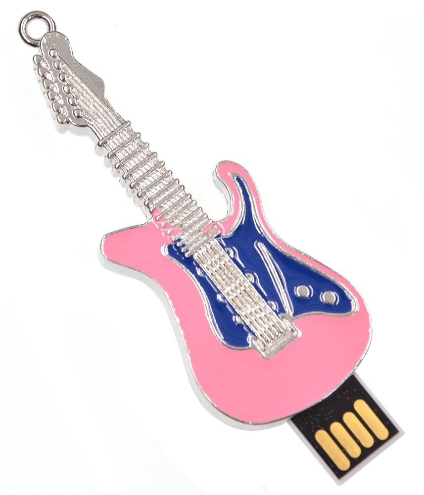Amazon.com: USB 2.0 Flash Drive 32GB Memory Stick for Computer Pink Metal Guitar Design Pendrive Zip Drive New Years Gift by FEBNISCTE: Computers & ...