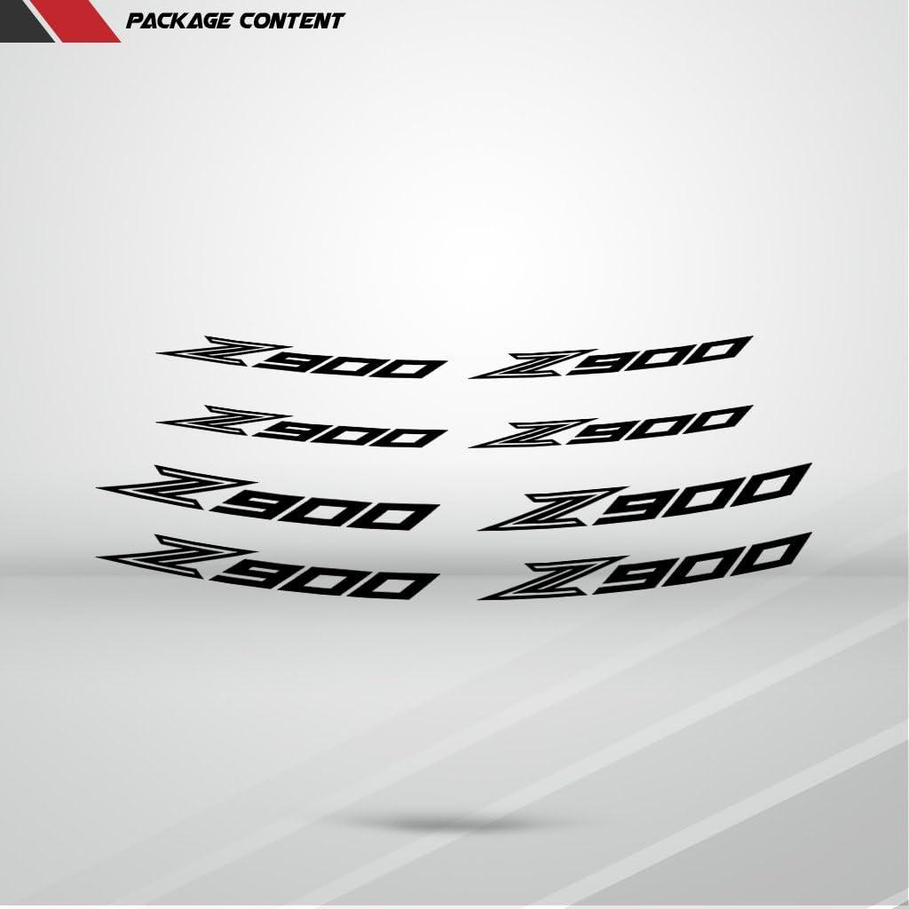Stickman Vinyls Matt Grün Motorrad Inner Rim Tape Decal Aufkleber Kompatibel Mit Kawasaki Z900 Auto