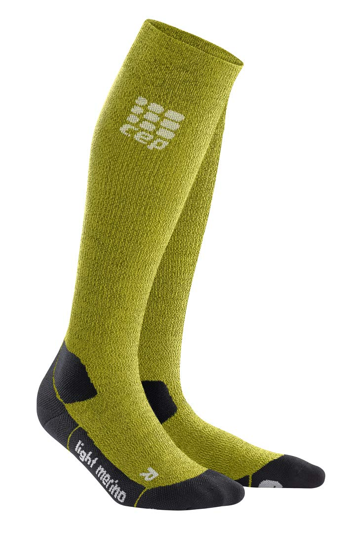 CEP Womens Long Compression Wool Hiking Sock Light Merino (Fresh Grass) 3 by CEP