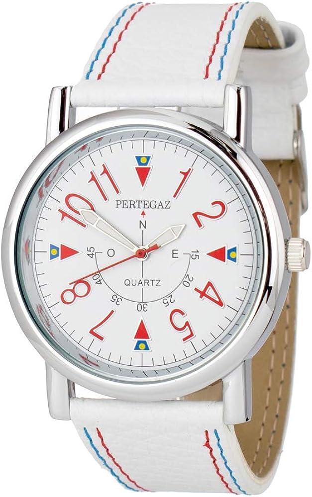 Pertegaz Reloj Analógico para Hombres de Cuarzo con Correa en Cuero P33004-B