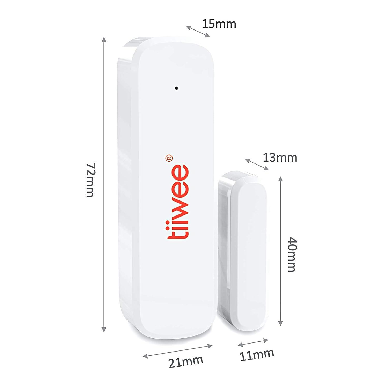 tiiwee X1 Sistema de Alarma para el Hogar 2 A/ños de Garant/ía 2 Sensores de Puerta y Ventana y 2 Controles Remotos Bater/ías Incluidas Inal/ámbrico Sistema Completo con Sirena Alta de 120 dB X1
