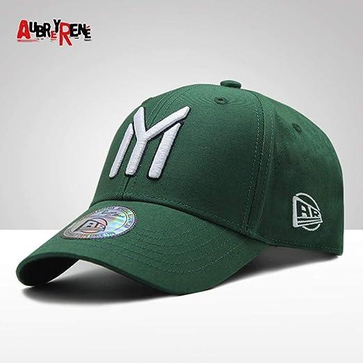 sdssup Gorra de Béisbol NY Big Letter Cap Pareja Casual Cap Army ...
