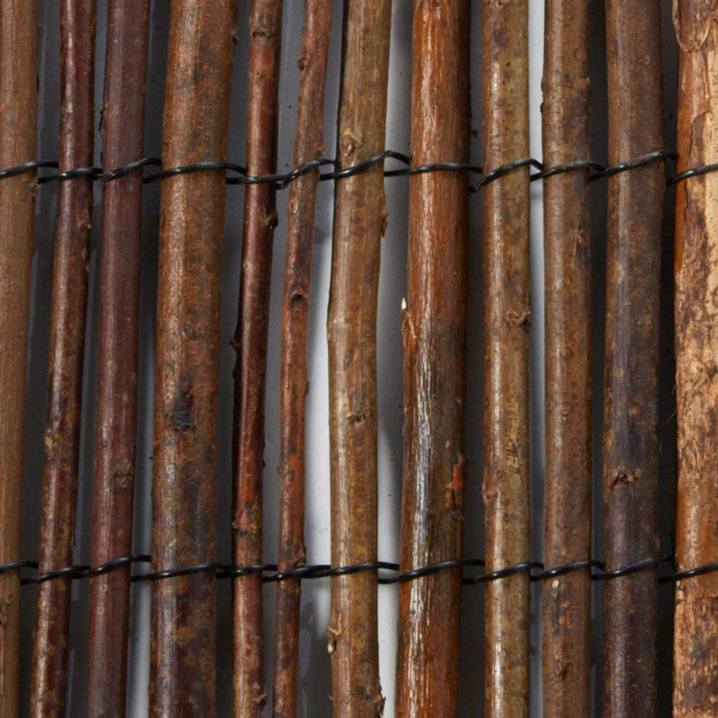 1 by 14-Feet Master Garden Products Rolled Willow Border Fence