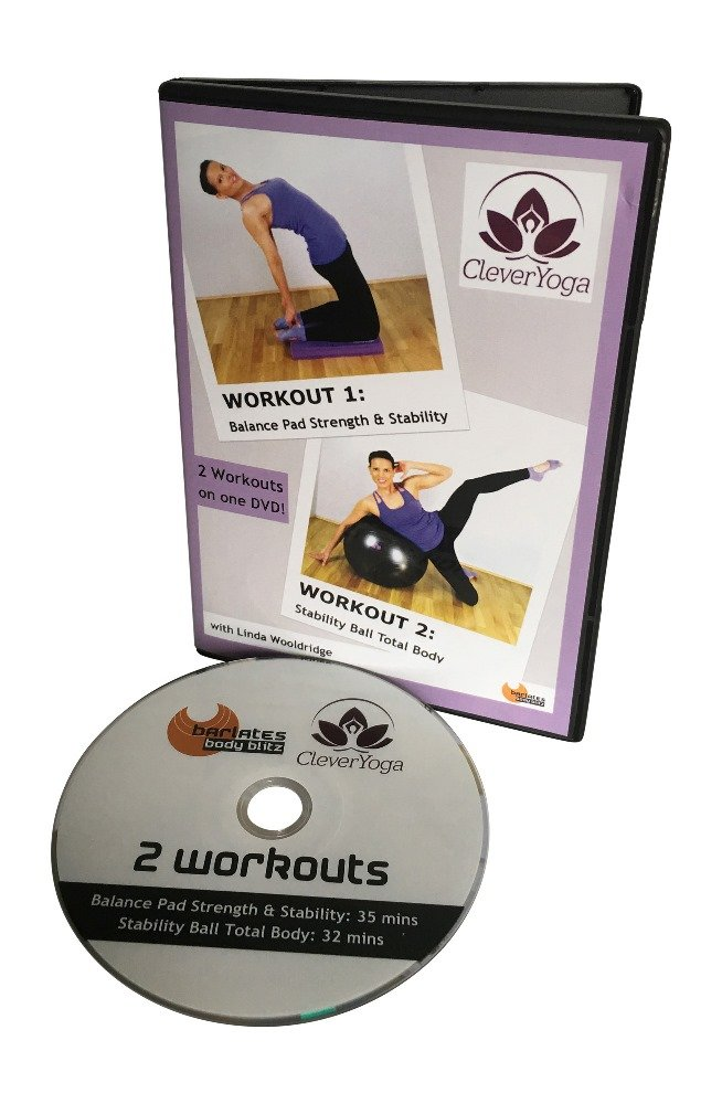 Clever Yoga Balance Pad Strength & Stability Workout DVD (35 ...