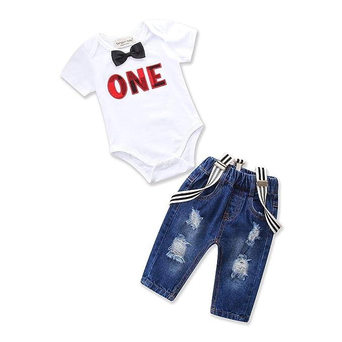 Amazon.com: Conjunto de ropa para bebés y niños pequeños con ...