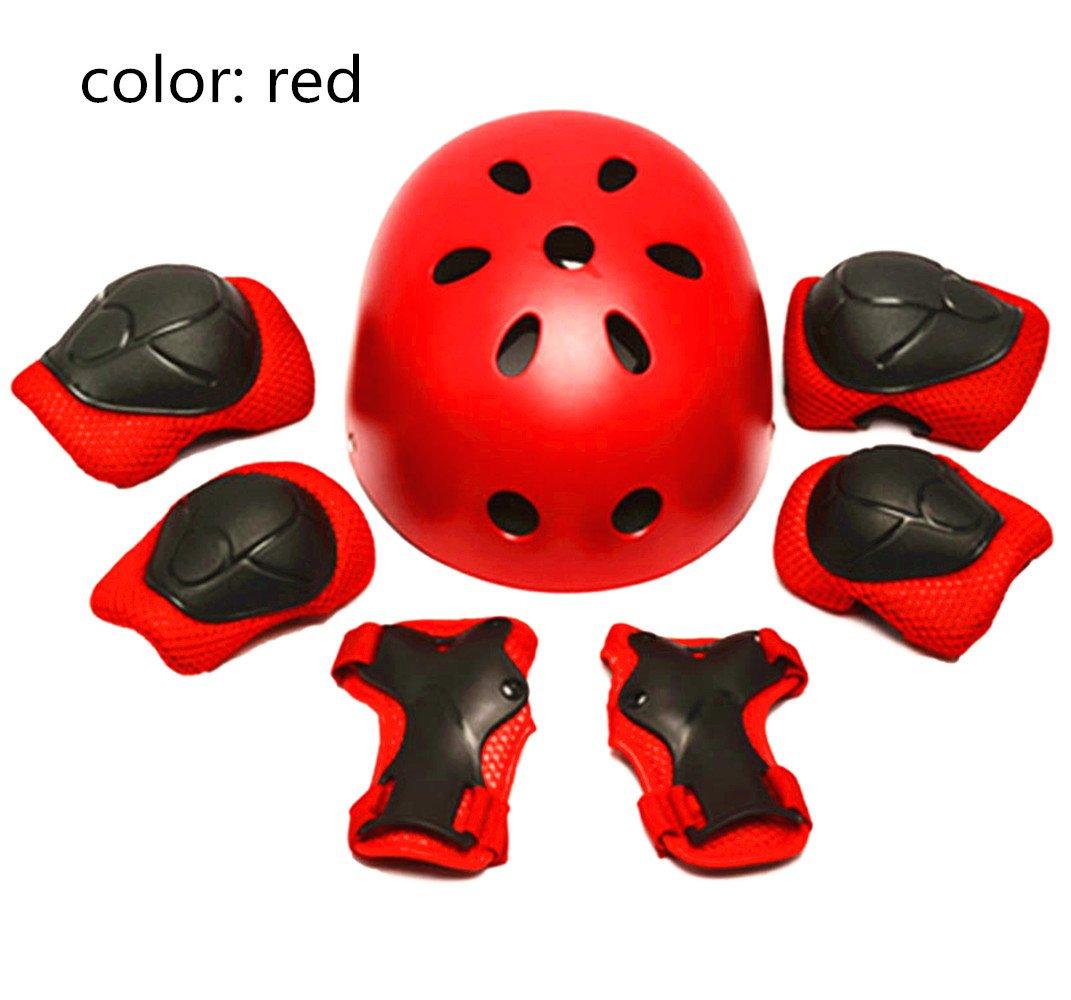 Kid's Protective Gear Set, Helmet/Elbow Pads/Knee Pads/Wrist Guards for Skating Cycling Bike Rollerblading Scooter (Azul) Kid' s Protective Gear Set Stillshine Stillshine-258H