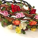 Set of 12 Mix Color Mini Flower Crown Headband /Halo/coachella /Edc /Hippie Flower Headband /Garden Party / Wedding (12 PCS) by Goodgoods