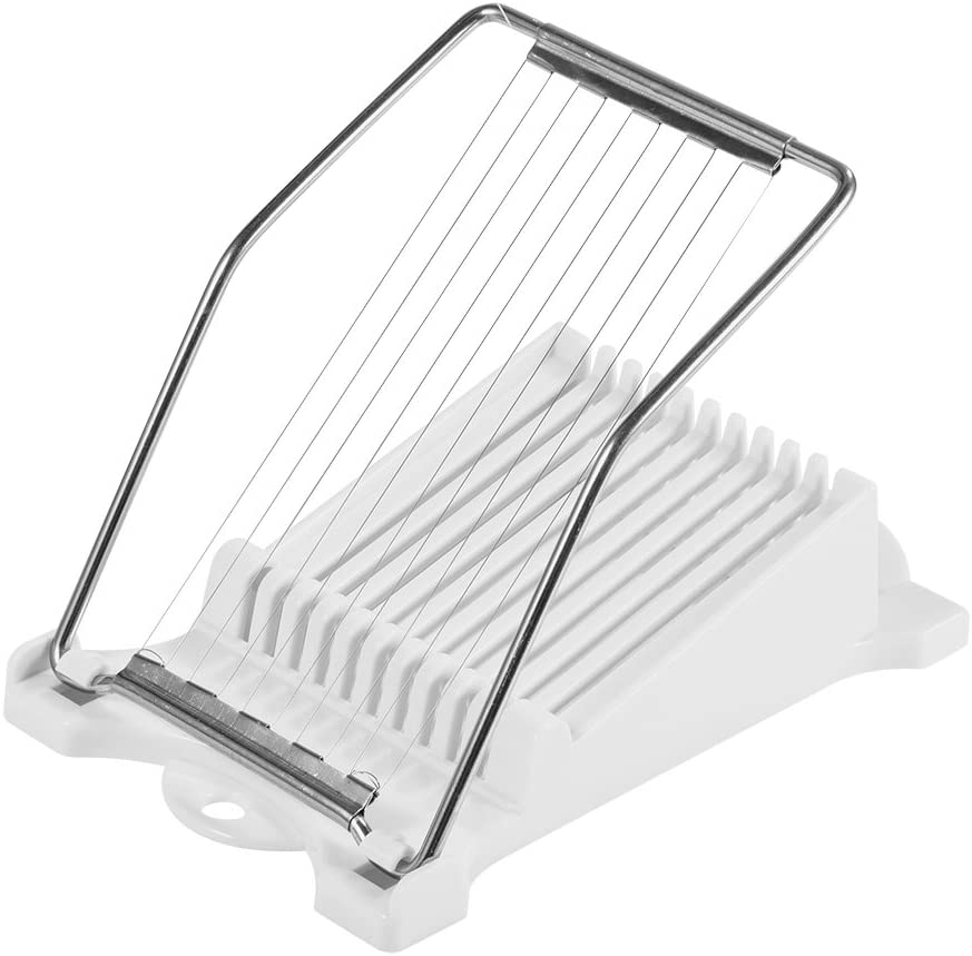 Boiled Egg Fruit Soft Cheese Slicer Cutter White Stainless Steel Wires NVTED Luncheon Meat Slicer Cuts 10 Slices