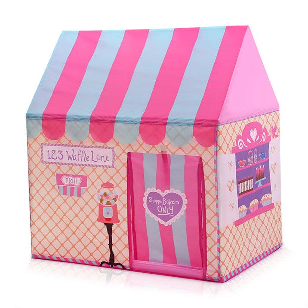 家庭用テント、子供ゲームハウスおもちゃルーム室内ベビーテントおもちゃガールプリンセスルーム少年テント100 * 70 * 110CM (色 : ピンク ぴんく) B07DWBYT4B ピンク ぴんく