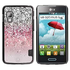 Paccase / SLIM PC / Aliminium Casa Carcasa Funda Case Cover para - Glitter Bling Silver Pink Light - LG Optimus L5 II Dual E455 E460