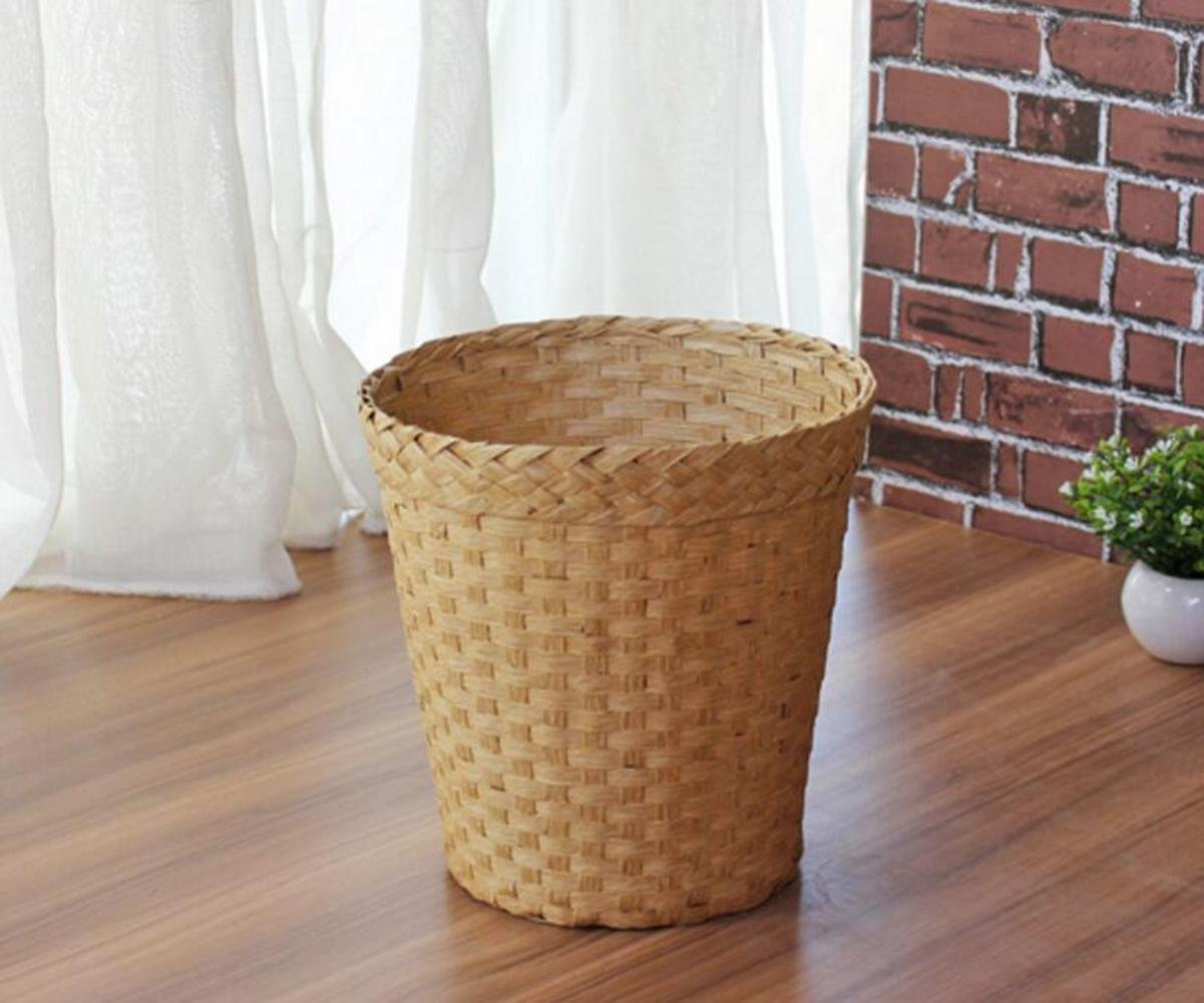 OOFWY Fashionable straw baskets household living room bedroom office storage basket , A