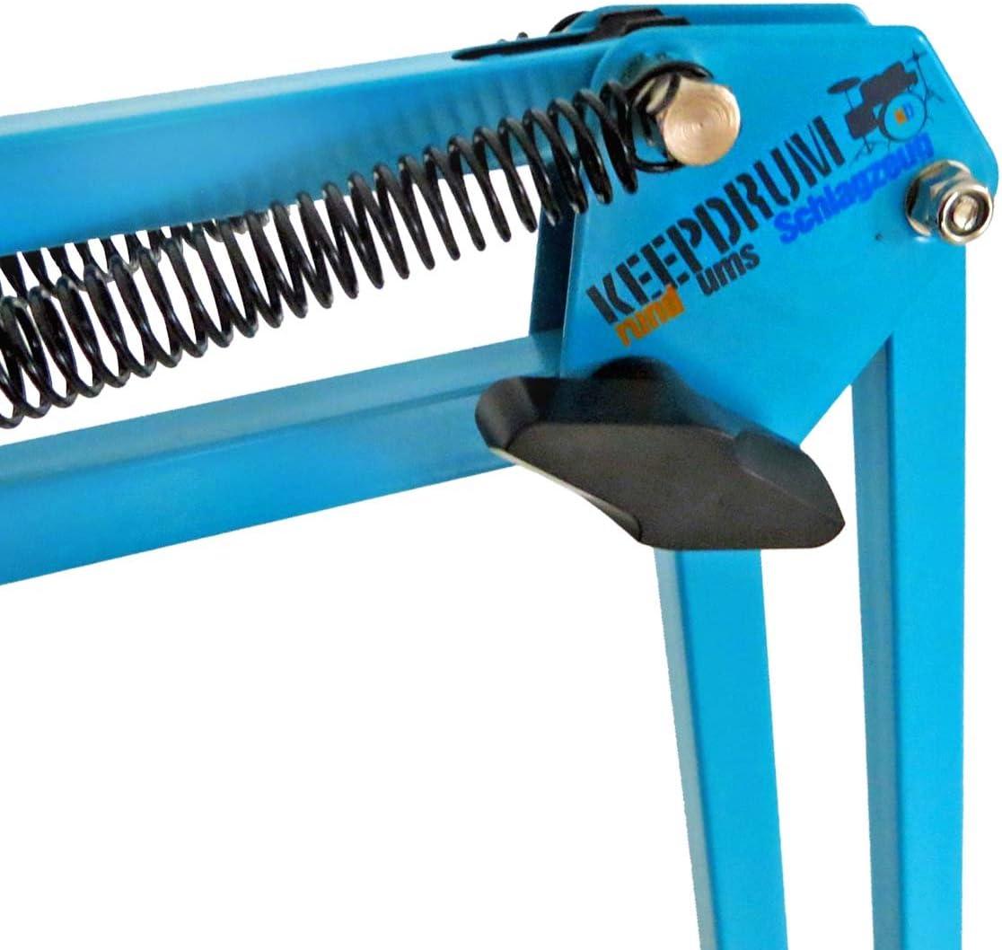 keepdrum NB35 BL Blau Tisch-Mikrofonarm Mikrofonstativ Schwenkarm zur Tischmontage