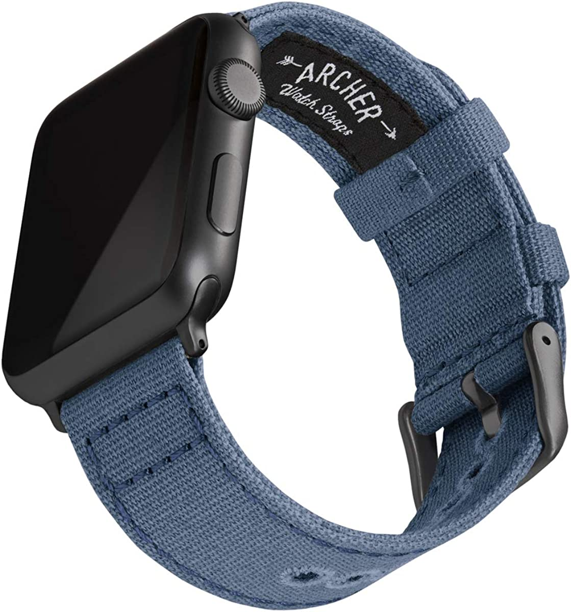 Archer Watch Straps | Correas Reloj Lona para Apple Watch | para Hombre y Mujer, 38/40mm, 42/44mm