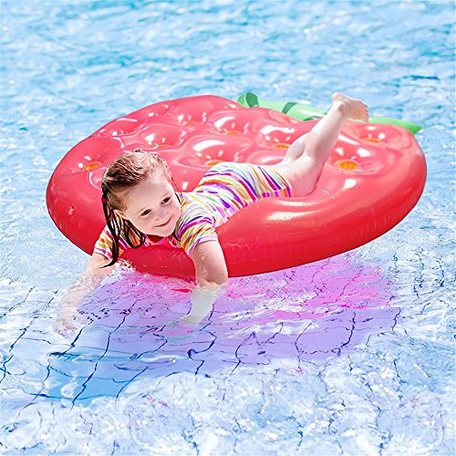 Fly New Inflatable Strawberry Floating Row Can Put Drink Water Glass Floating Bed Inflatable Floating Row by Fly (Image #1)