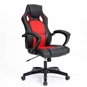 bigtree racing gaming chair ergonomic pu leather executive office