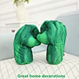 The Hulk Boxing Gloves Smash Hands Fists Incredible Hulk Soft Plush Toys Cosplay Superhero Costume Gloves, Birthday Gifts for Kids, Teens, Girls
