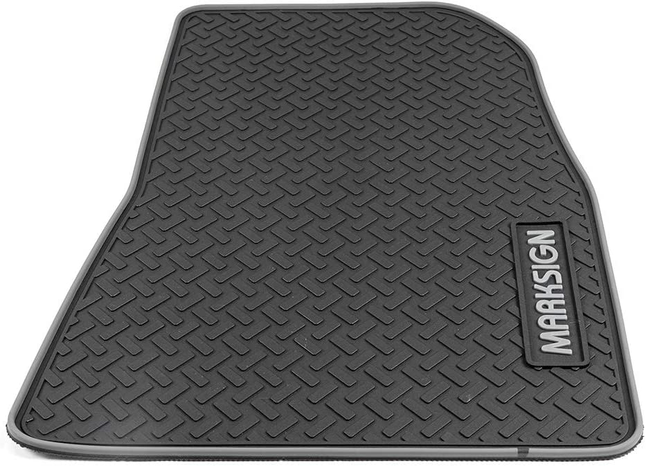Odorless Black Latex MARKSIGN 3-Piece Floor Mats Set for Tesla Model 3 Eco-Friendly and Life Time Warranty