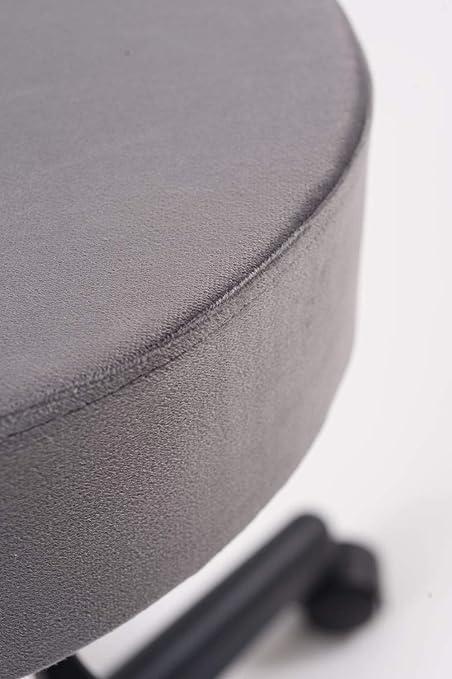 Tabouret de Travail PU Pivotant /à 360/°,Tabouret R/églable avec Roues Khaki, S-35cm Leader Accessories Tabouret /à roulettes