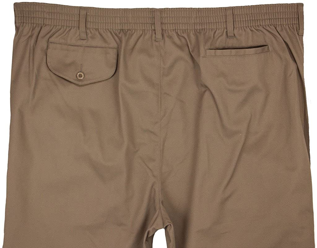 Falcon Bay Big /& Tall Mens Casual Twill Pants FULL ELASTIC Waist