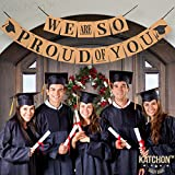 We are So Proud of You, Graduation Banner - No-DIY Required, Classy Kraft Paper Banner | Graduation Decorations for Graduations Party Supplies 2018, Grad Party Decor for Prom Decorations, Large