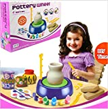 Pottery Wheels Studio Kit for Girls and Boys 6,7,8 Year Olds Educational Creative DIY Toys with Air-Dry Clay Birthday Gift