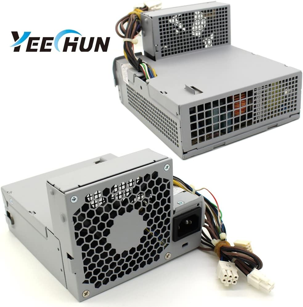 YEECHUN New 240W Power Supply for HP Pro 6000 6005 6200 Elite 8000 8100 8200 SFF Compatible Part Number 611482-001 613763-001 611481-001 613762-001 508151-001 503375-001