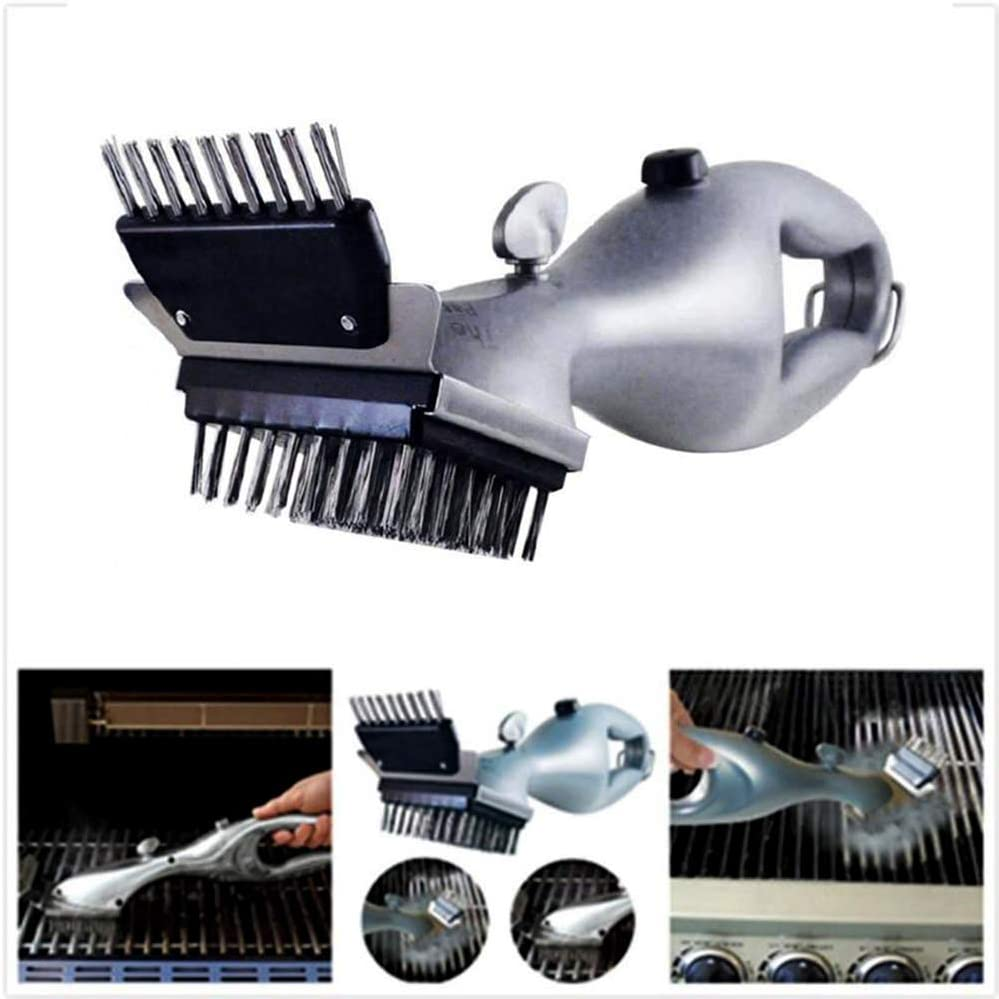DW007 Scraper Grill Brush Best BBQ Cleaning Brush Stainless Steel 3-in-1 BBQ Cleaning Brush Provides Easy Cleaning Full Stainless Steel Handle Great BBQ Tool 10.5936.5Cm