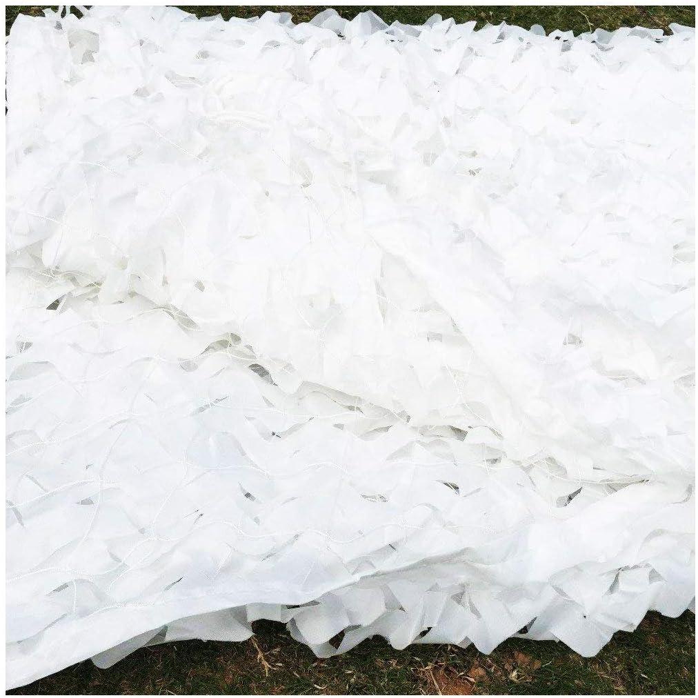 Camouflage Net-SJMWZW Army Camouflage Netting 6.6*9.8ft 5X3M White Camo Netting Reinforcement Sun Shade Netting 2*3M