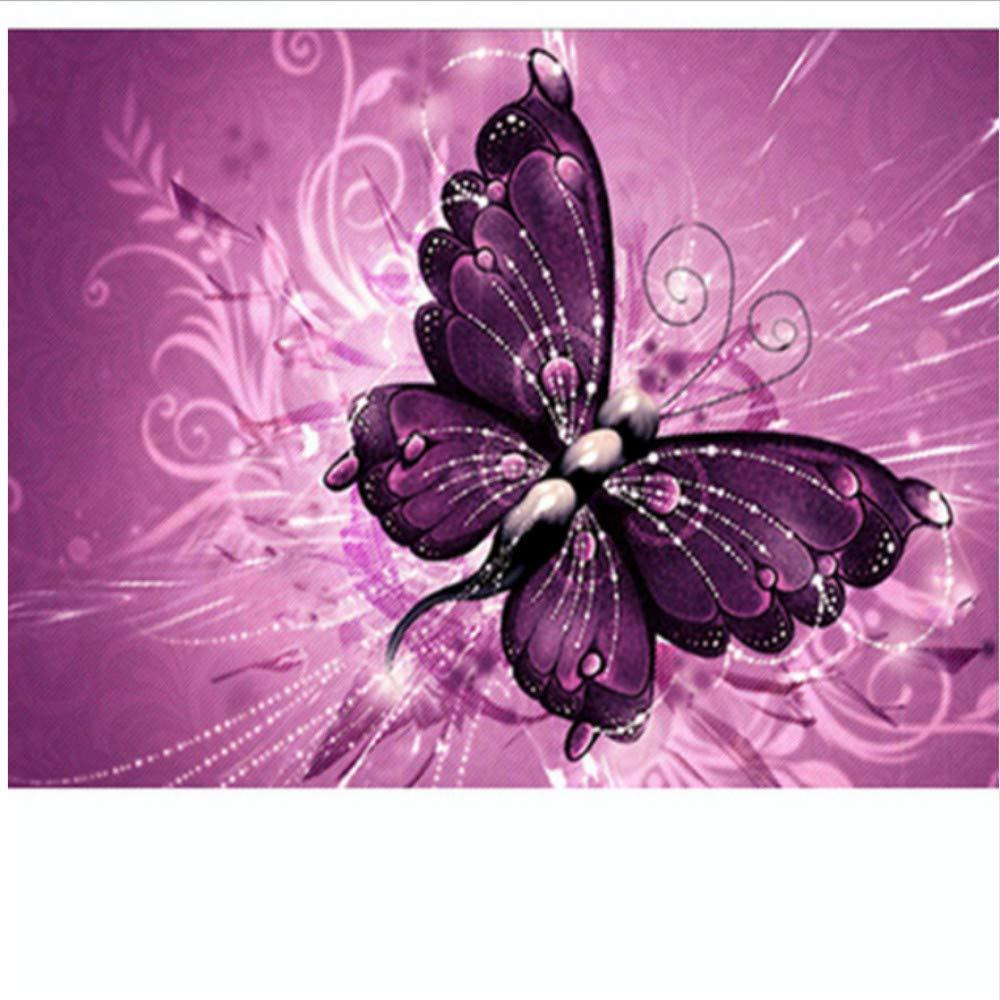 WFYY Malen Nach Zahlen Erwachsene Lila Schmetterling Schön Abstrakte Puzzle Spiel Spielzeug Geschenke Artwork Für Kinder 16X20 Inch Holzrahmen B07PMDSF9G | Garantiere Qualität und Quantität