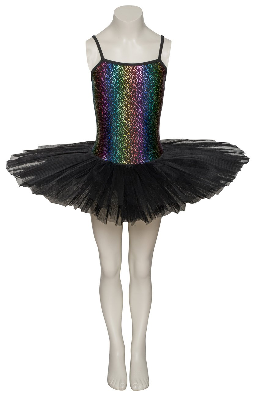All Colours Star Print Dance Ballet Leotard Tutu Childs Ladies Sizes By Katz Dancewear (Black, Age 9-10 Years Euro 10)
