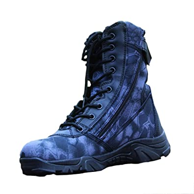 4593e0fcce9 Hiking Shoes Men Waterproof Black Lightweight High-top Military Boots  Python Pattern Tactical Boots Special