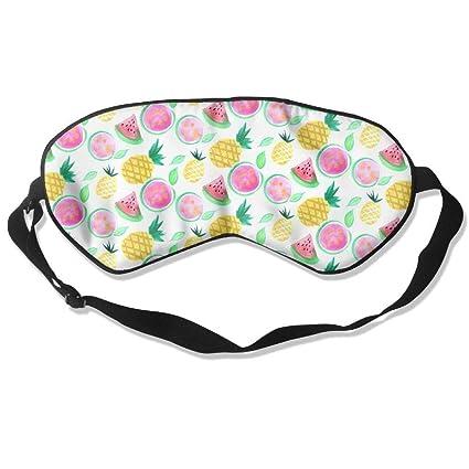 Máscara de piña para dormir, sandía, sin semillas, antifaz ajustable para ojos opacos