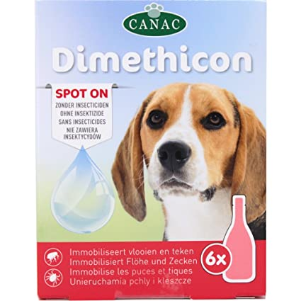 "DIMETHICON - Pipetas anti-garrapatas y antipulgas ""Spot On"" para perros,"