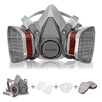 Respirador, NASUM Semimáscara Antigas Máscara para Pintura en Aerosol, Polvo, Productos Químicos,