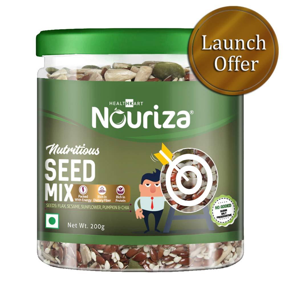 Nouriza Seeds Mix (flaxseeds, Sesame Seeds, chia Seeds, and