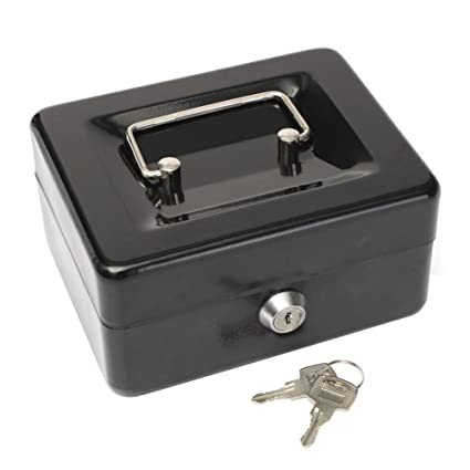 amazon com bleumoo stainless steel metal petty cash box lock bank