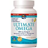 Nordic Naturals Ultimate Omega SoftGels - Most Popular Omega 3 Supplement, Lemon Flavor Fish Oil With DHA EPA, Supports Heart Health, Brain Development, Healthy Joints, and Overall Wellness, 90 Count