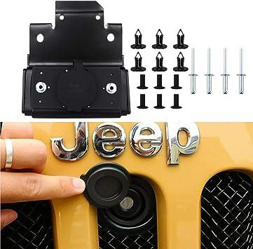 Engine Cover Bonnet Hood Lock Kit Assembly For Jeep Wrangler JK 2007-2017 2016