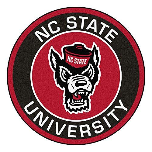 FANMATS NCAA North Carolina State Wolfpack Universityroundel Mat, Team Color, One Size ()