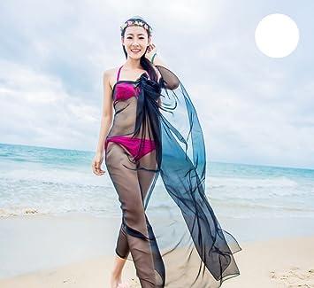 FANGSHAI 2018 Primavera y Otoño Pañuelo de Gasa de Color Sólido Bufanda Femenina Larga Protector Solar