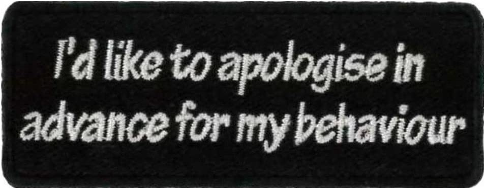 "PLEASE WAIT 3/"" X 1-1//4/"" I/'M LOST EMBROIDERED PATCH 9CM X 3CM"