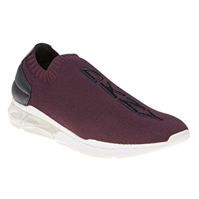 d1c9db771 DKNY Neptune Slip On Trainers Maroon: Amazon.co.uk: Shoes & Bags