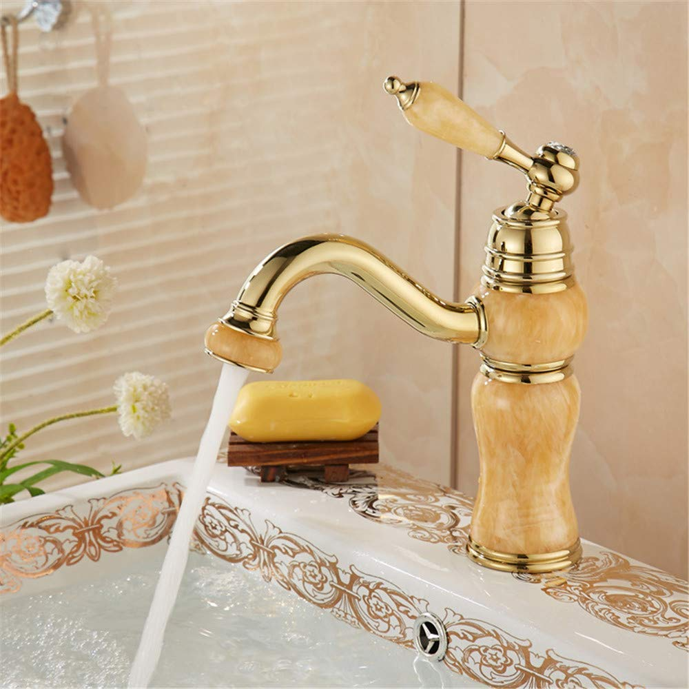 B Oudan All Copper Decoration Jade Basin Faucet Hot and Cold Taps A (color   A, Size   -)