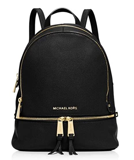 9dcd1eec7 Michael Kors Women's Small Rhea Leather Backpack - Black: Michael ...