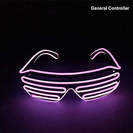 EL Wire Neon Rave Glasses Flashing LED Sunglasses Eyewear Nightclub Party Gift