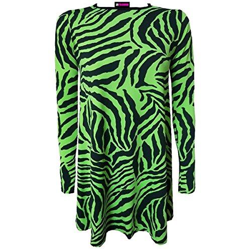 21fashion Vestido Fluorescente Vestido Mujer Mujer Verde Verde Vestido 21fashion Verde Fluorescente 21fashion Mujer qtnw7zd