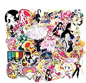 YLGG Anime Sailor Moon Sticker Cartoon Girl Scrapbook Decor PVC Papelería Pegatinas School Office Supply 75 Unids/Pack: Amazon.es: Electrónica