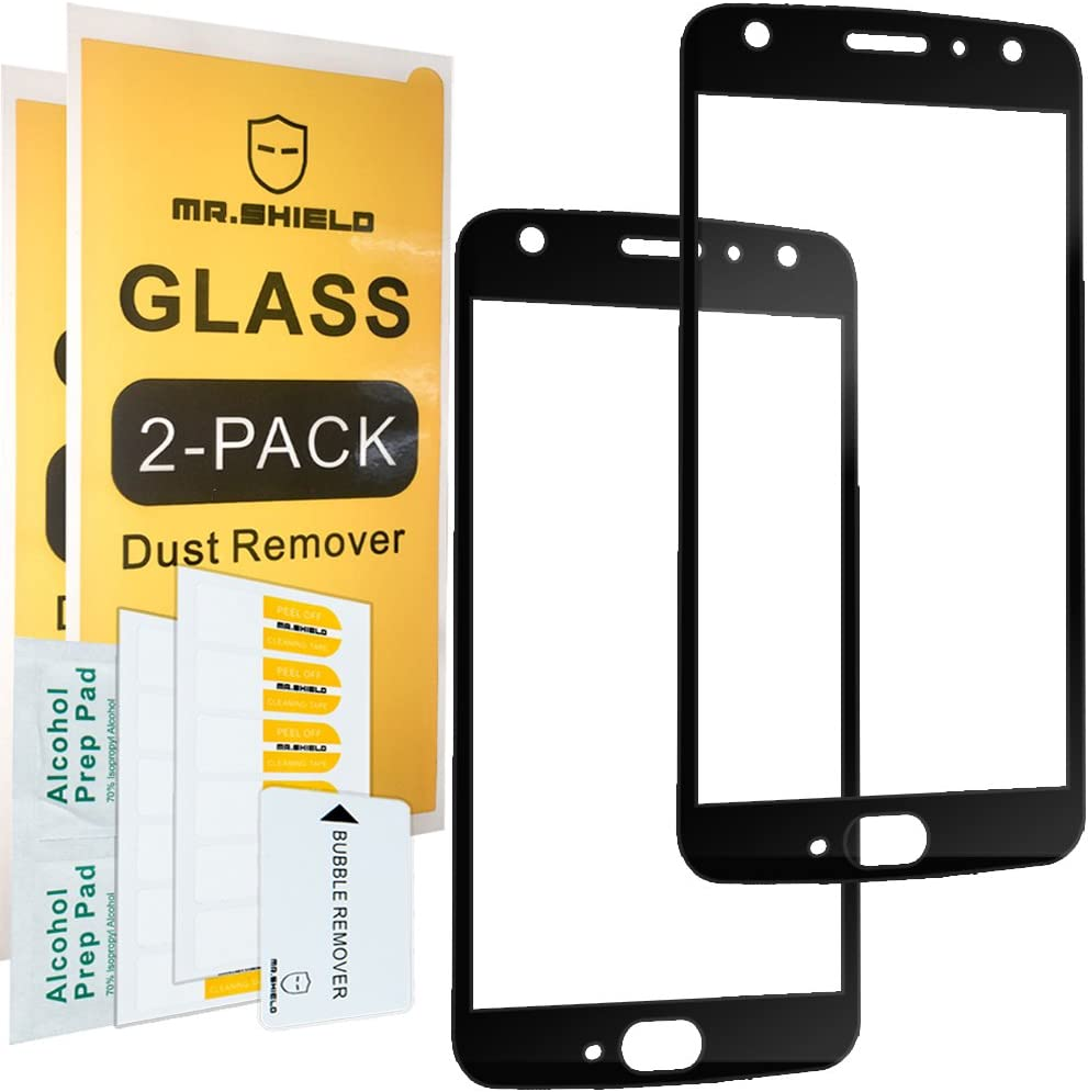 Mr.Shield [2-Pack] for Motorola Moto X4 / Moto X (4th Generation) [Japan Tempered Glass] [9H Hardness] [Full Cover] Screen Protector with Lifetime Replacement