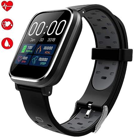 Ventdest Smartwatch con GPS, Impermeable Reloj Inteligente Apoyo Pulsómetro, Monitor de sueño, monitoreo