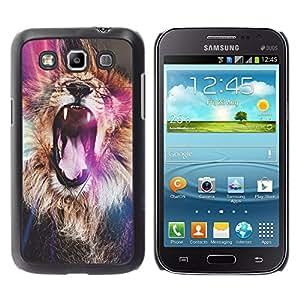 Planetar® ( Lion Purple Roar Yawn Fur Africa Abstract ) Samsung Galaxy Win / I8550 / I8552 / Grand Quattro Fundas Cover Cubre Hard Case Cover